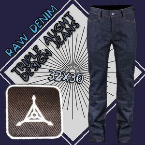 Triple aught design intercept raw denim jeans
